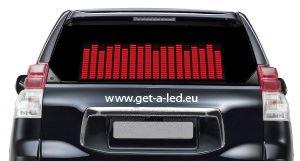 Auto Led Ekvalizér - Červený 70 x 16 cm