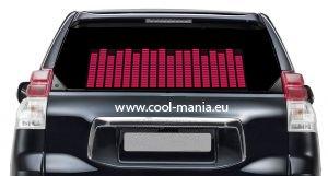Auto Led Ekvalizér - Ružový 42 x 11 cm
