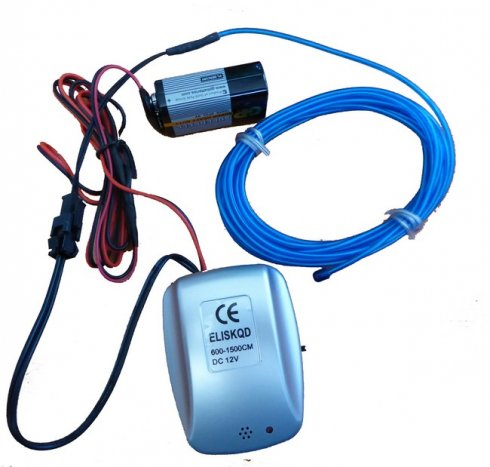 Party Neon Fiber 2,3 mm + sound inverter El 9V