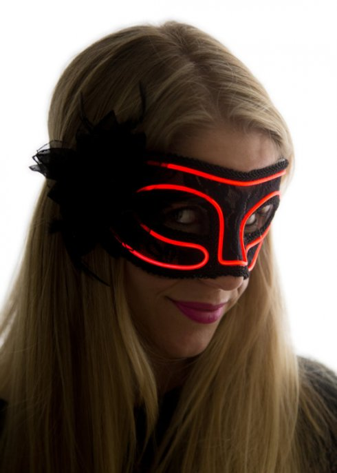 Masks neon - red