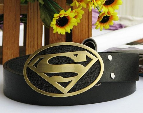 Superman logo - gold buckle
