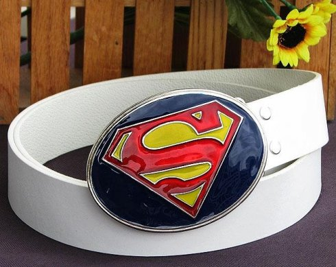 Superman logo - coloured buckle