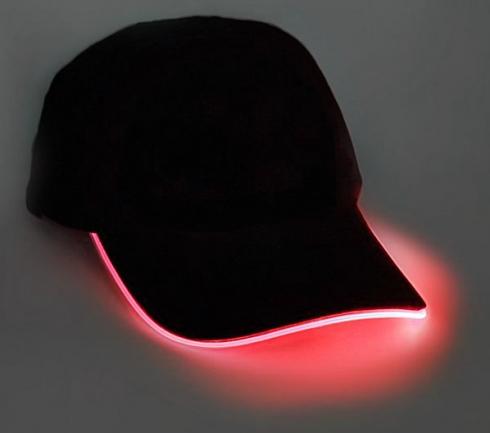 LED светящаяся кепка - красная