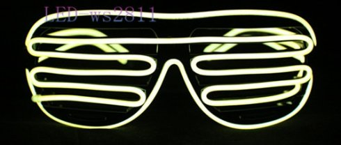 LED party waffle glasses - Yellow