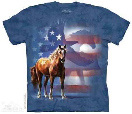 Batikované tričko - kôň
