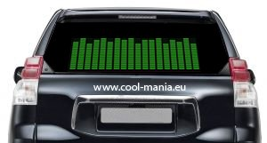 Equalizer car sticker - Green 42 x11 cm
