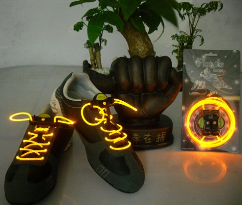 LED shoelaces -yellow