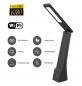 Dotyková LED nabíjateľná stolová lampa s HD 1080p WiFi kamerou + 16GB pamäť
