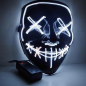 Halloween LED Mask Flashing - Purge (Weiß)