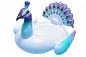 Felfújható felnőtteknek - Fehér pávák