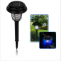 Solar LED light with insect traps