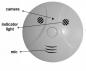 Caméra détecteur de fumée + télécommande