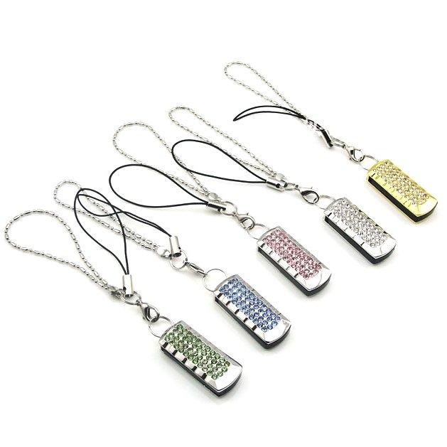 elegante llave usb decorada con diamantes de imitaci u00f3n