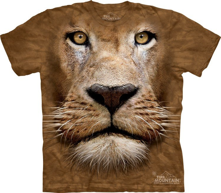 Animal Face T Shirt Lion Cool Mania
