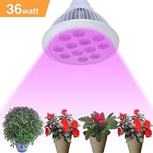 Fluorescentes luces de crecimiento 36w 12x3w cool mania - Luces para plantas de interior ...