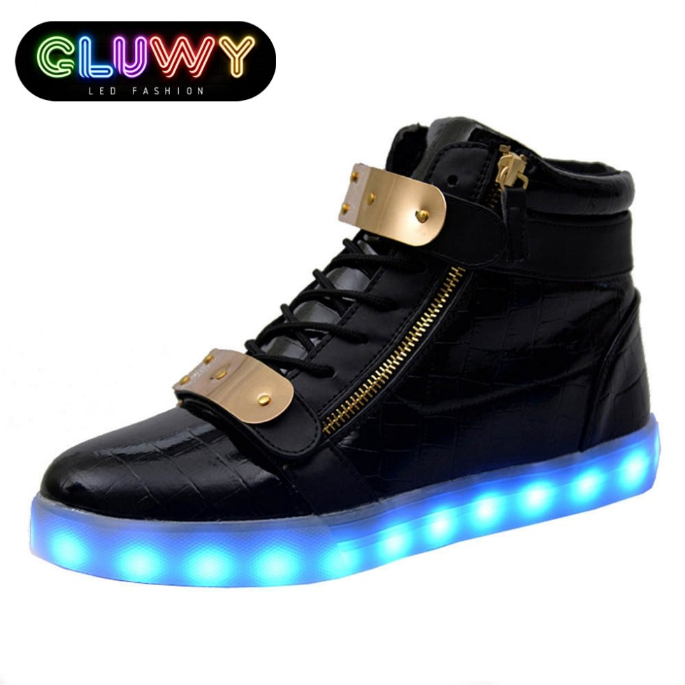 Girls Light Up Shoes Size  Black