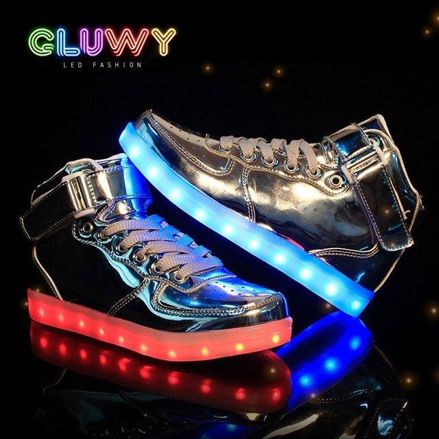 d84500786d1 Svítící Sneakers boty - stříbrné