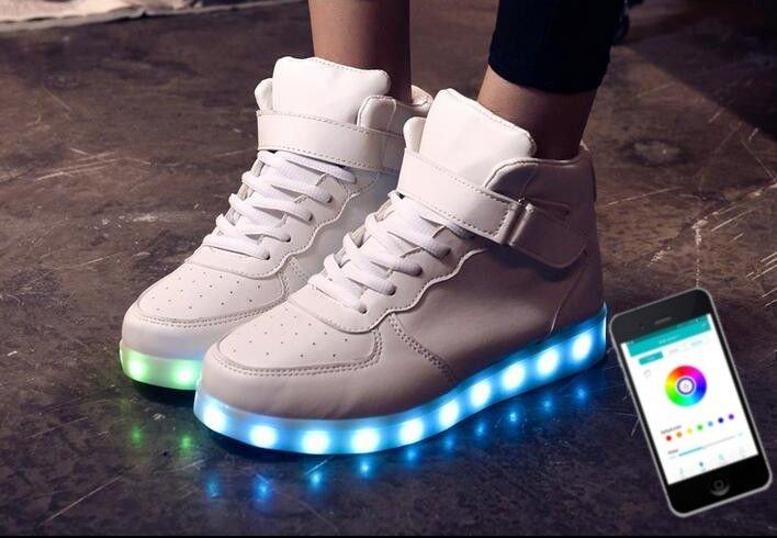 LED cipő fehér cipők