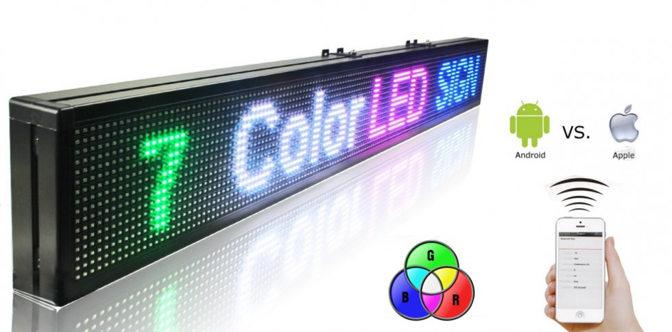 panneau lumineux wifi led 7 couleurs rvb panneau 100 cm x 15 cm cool mania. Black Bedroom Furniture Sets. Home Design Ideas