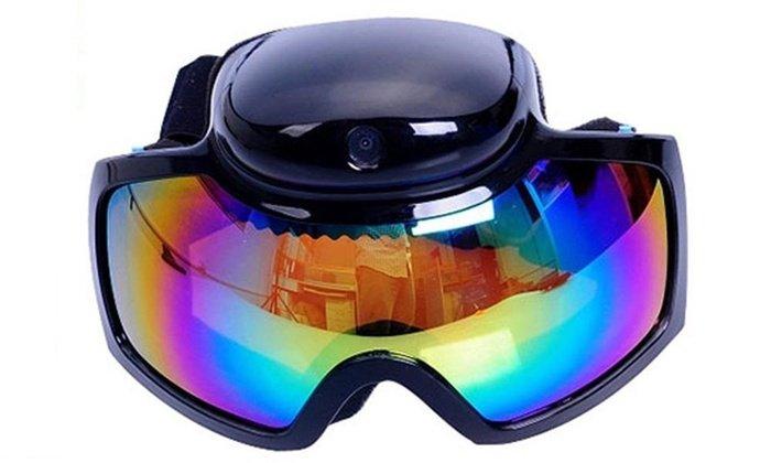 skibrille mit kamera hd 720p cool mania. Black Bedroom Furniture Sets. Home Design Ideas