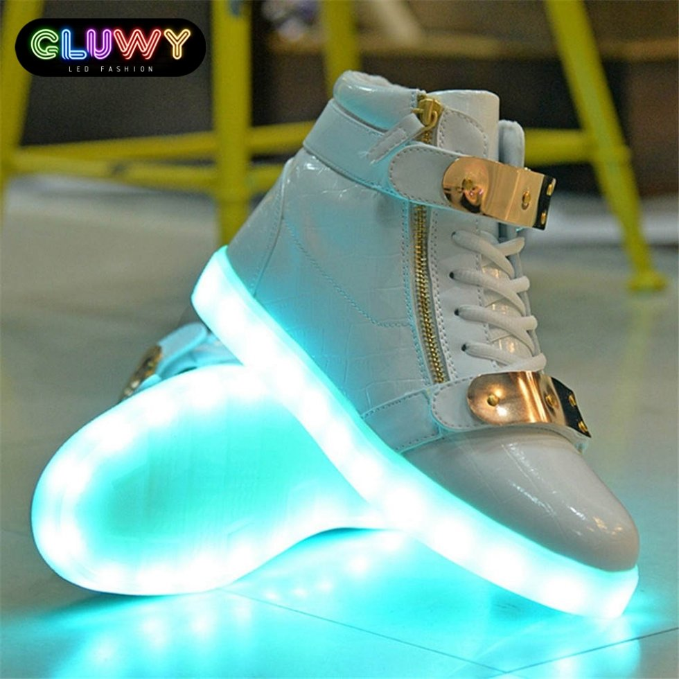 GoldCool Mania Shoes Led White And Flashing ymwOv80nN