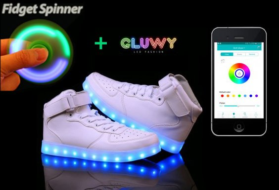 wei e led schuhe sneakers app farbe ber ihr telefon zu ndern cool mania. Black Bedroom Furniture Sets. Home Design Ideas