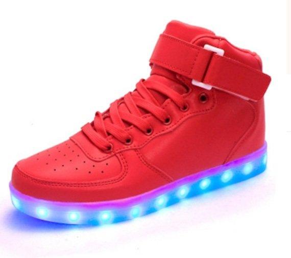 44d3d83e4a3be Blikajúce topánky - Sneakers červené | Cool Mania