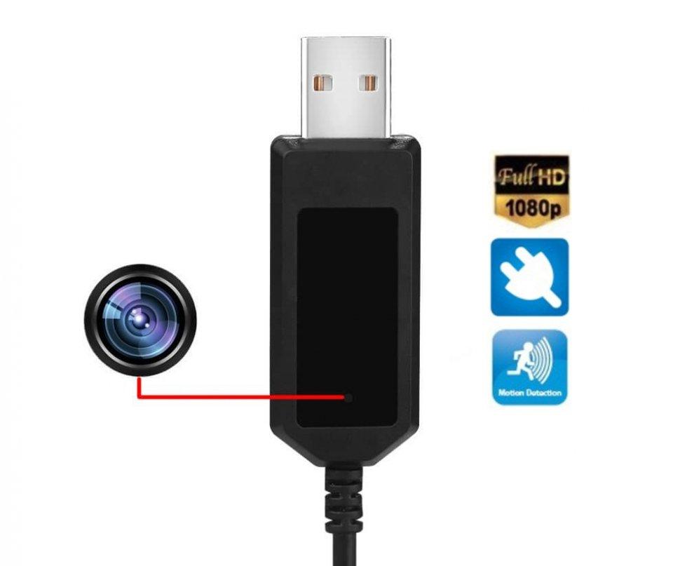 Nabíjací USB kábel s vysokokvalitnou FULL HD kamerou - 8GB pamäť ... 687e0f35209