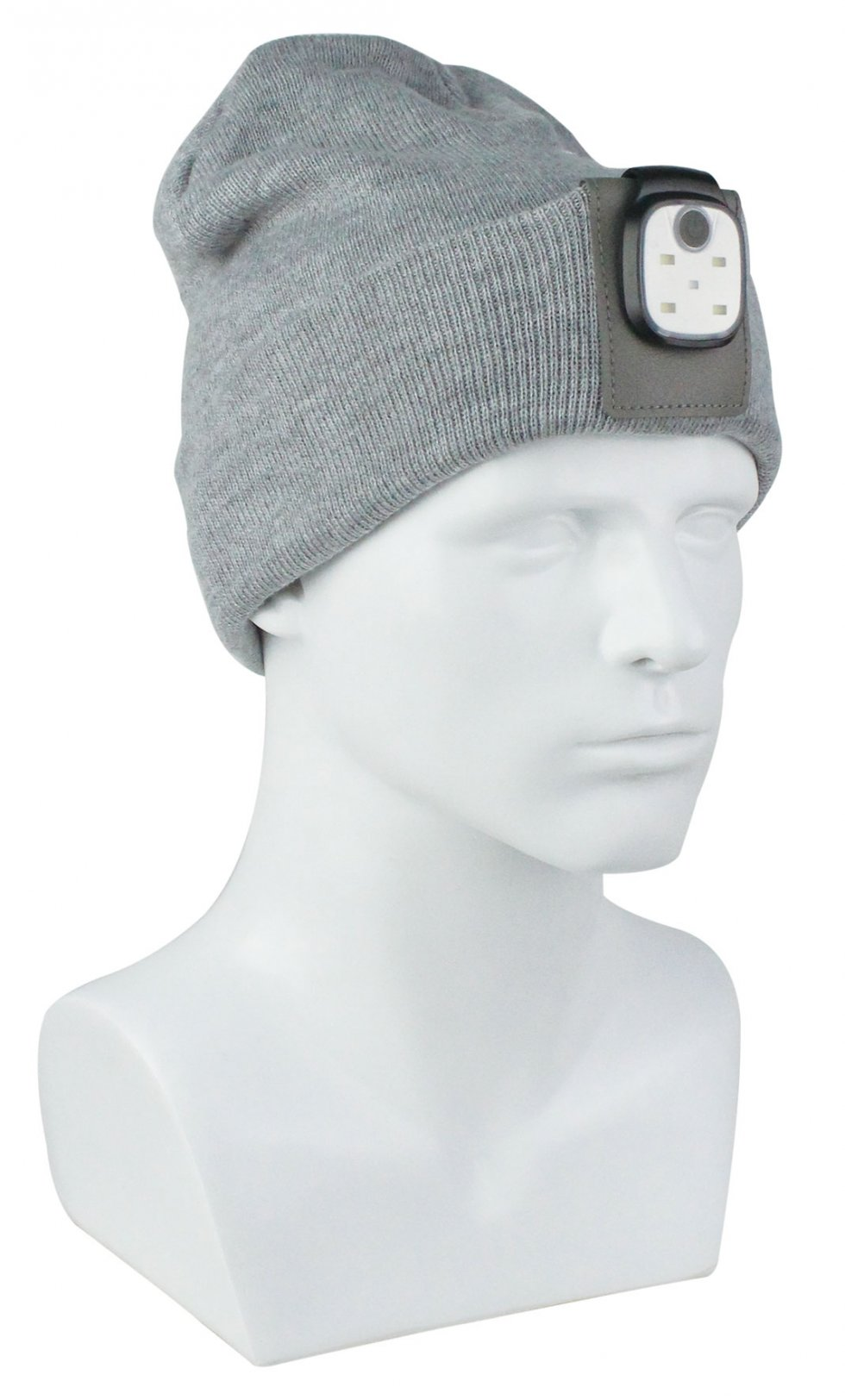 Winter hats - a ribbed hat with LED light  8dabdaaafa0