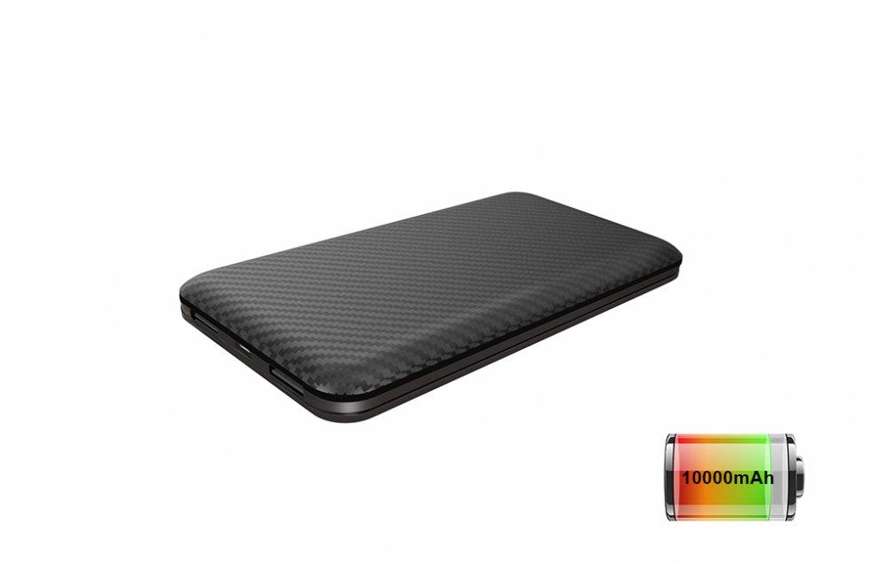 powerbank mit einer kapazit t von 10000mah und zwei usb 2. Black Bedroom Furniture Sets. Home Design Ideas
