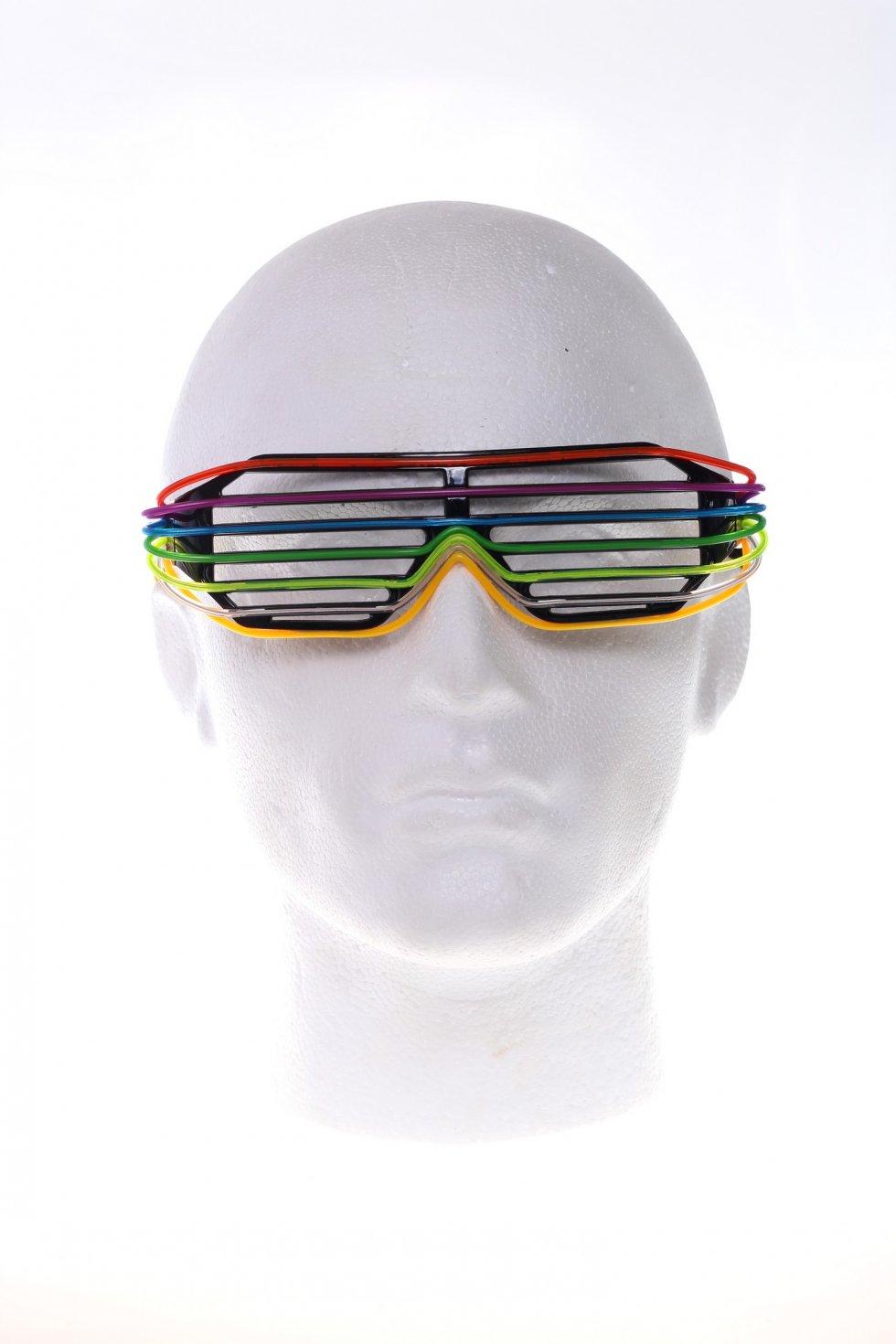 Disco okuliare farebné - mriežkované  68255e5f8d0