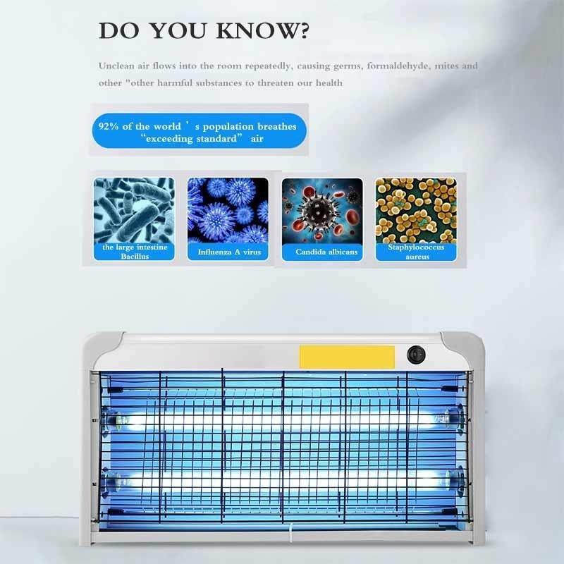 20W Ozone UV Keimt/ötende Lampe UVC Gl/ühbirne Home UV Desinfektion Ultravioletlicht UV-keimt/ötendes Licht UV Sterilisator Kill Dust Mite Lamp