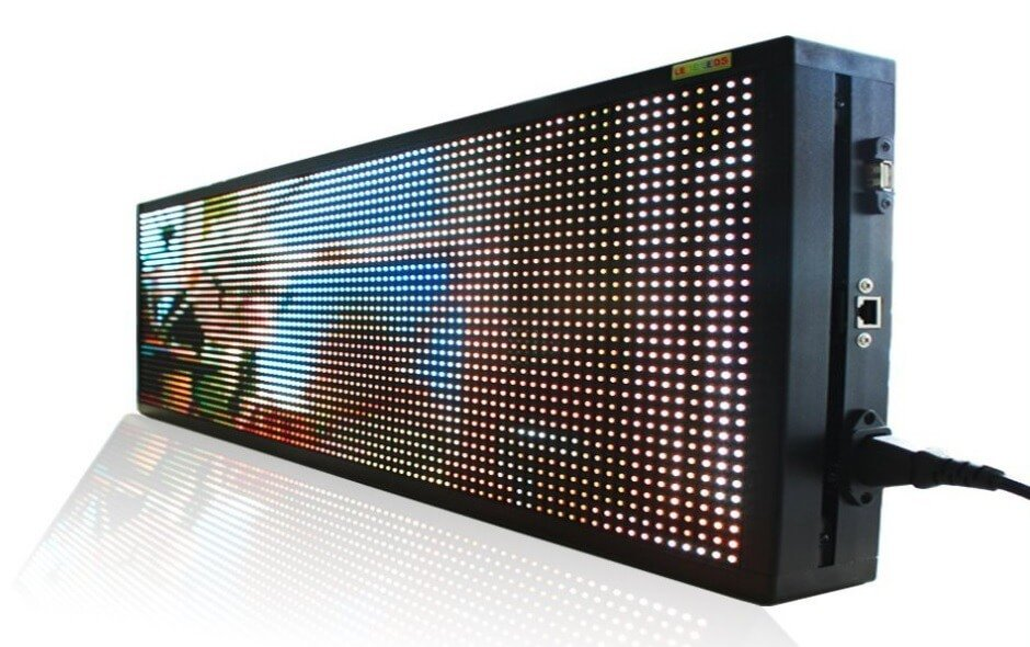 Large led panel with full color display 76 cm x 27 cm - Led panel kuchenruckwand ...