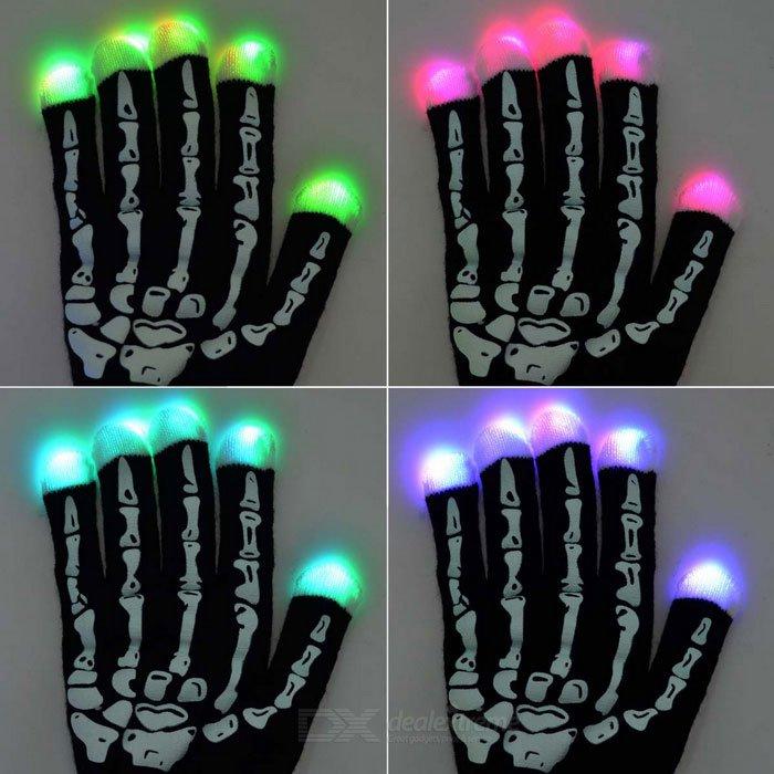 LED világító kesztyű - csontváz  e9fb020263