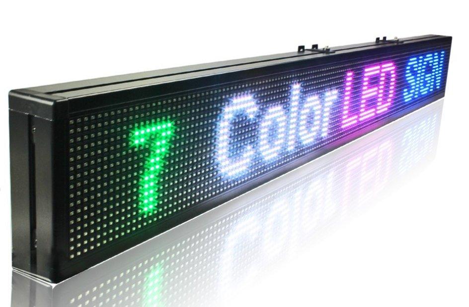led panel display 7 colors programmable 100 cm x 15 cm cool mania. Black Bedroom Furniture Sets. Home Design Ideas