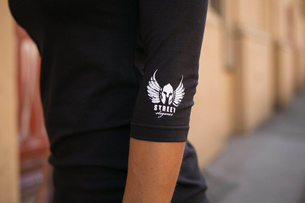 GDR női póló hosszú ujjú - fekete színben  e13a622bf1