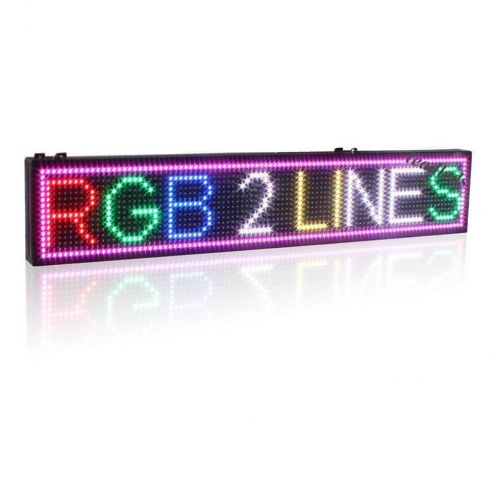 Bardzo dobryFantastyczny Tablica świetlna LED WiFi 7 kolorów RGB - panel 100 cm x 15 cm VE06