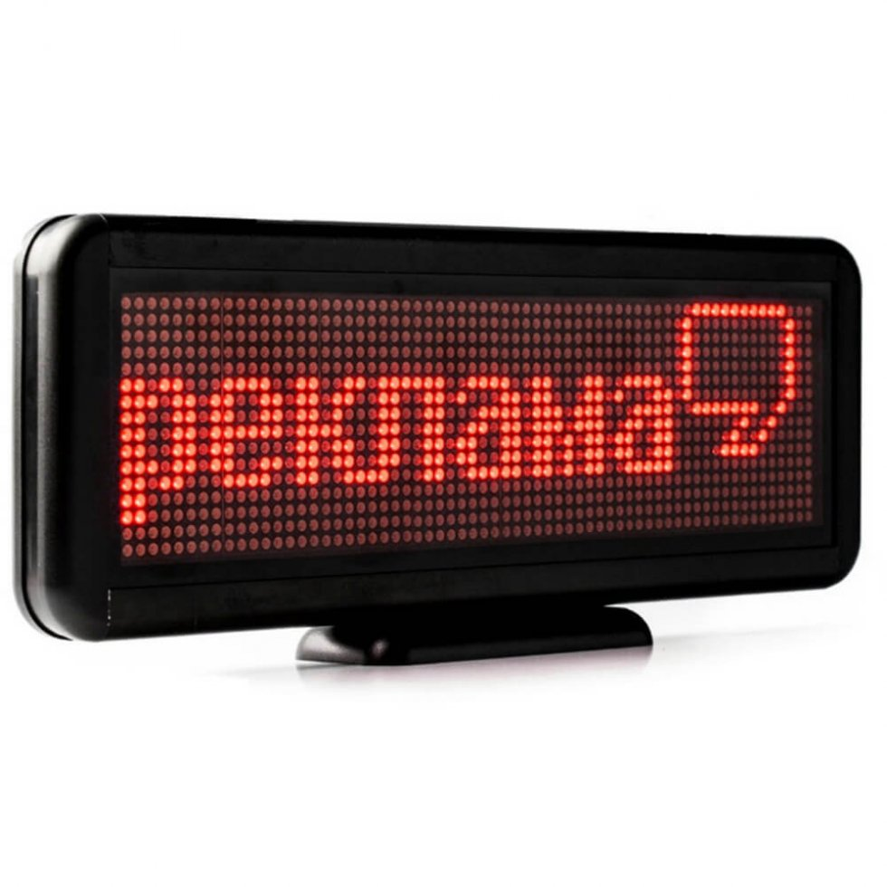 Promotional LED display with text scrolling 30 cm x 11 cm ...