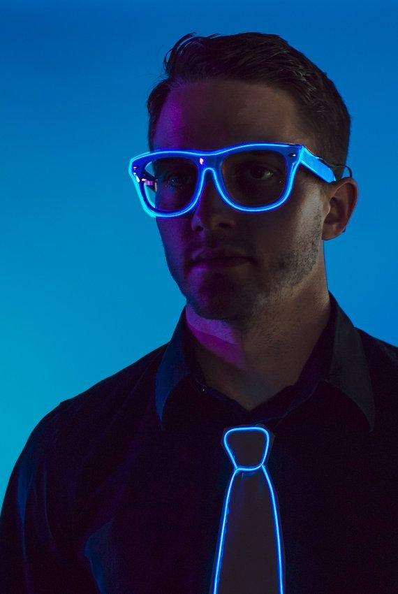 d3bdc7358eb8f7 Lunettes de néon de style Way Ferrer - Bleu   Cool Mania