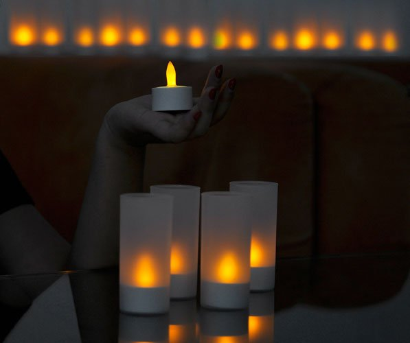 bougies led rechargeable cool mania. Black Bedroom Furniture Sets. Home Design Ideas