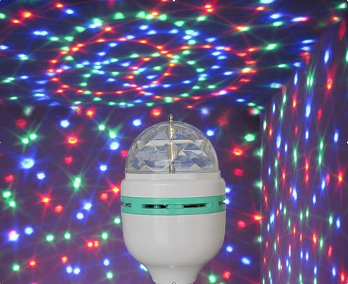 Rotating Disco Rgb Led Bulb Cool Mania