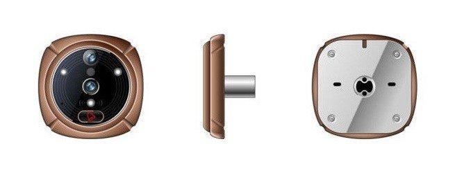 Visor digital de puerta mirilla ihome 3 wifi sms mms cool mania - Camara mirilla puerta wifi ...
