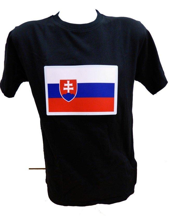 03daea46adc4 Led svietiace tričko so znakom Slovensko