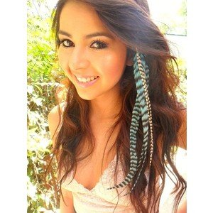 Feather hair extension dark brown cool mania feather hair extension dark brown pmusecretfo Choice Image