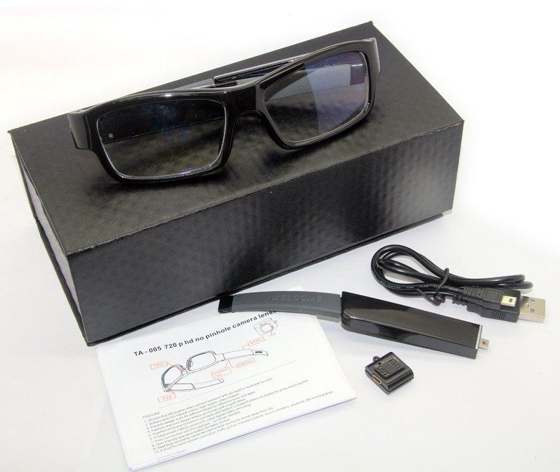 Okuliare s dokonalou kamuflážou zabudovanej spy HD kamery a vymeniteľnou  batériou 86d028e1114
