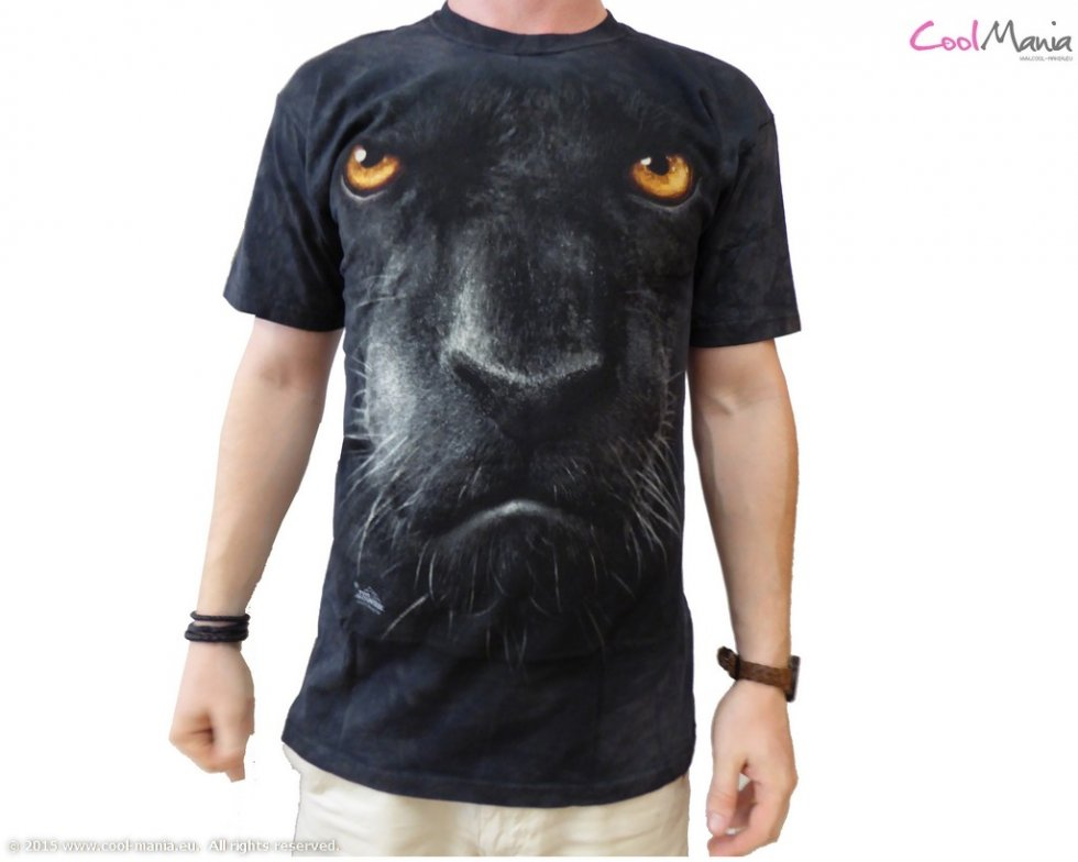 Animal face t shirt panther cool mania for Animal tee shirts online