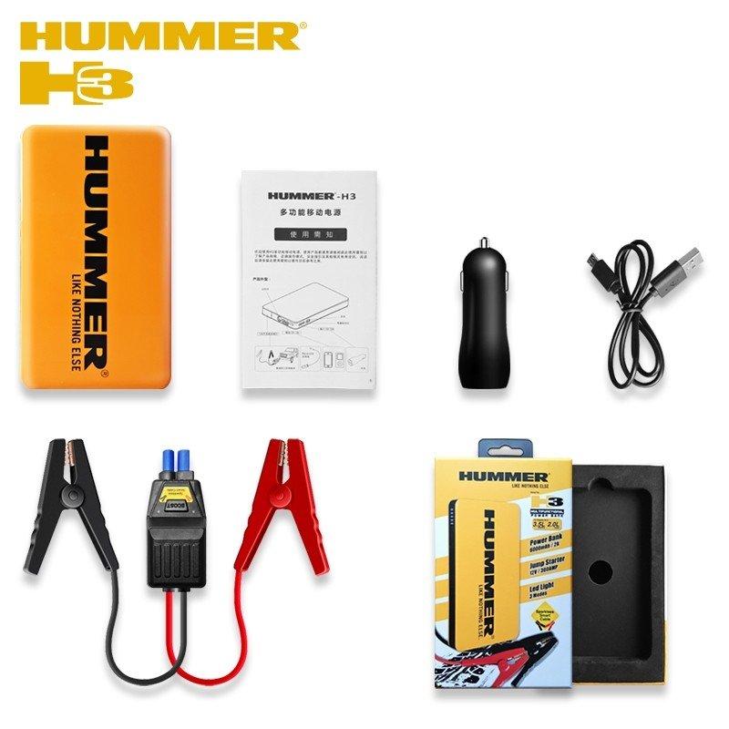 mini starthilfe externe batterie hummer h3 6000mah f r motoren bis 3 5l benzin 2 0l diesel. Black Bedroom Furniture Sets. Home Design Ideas