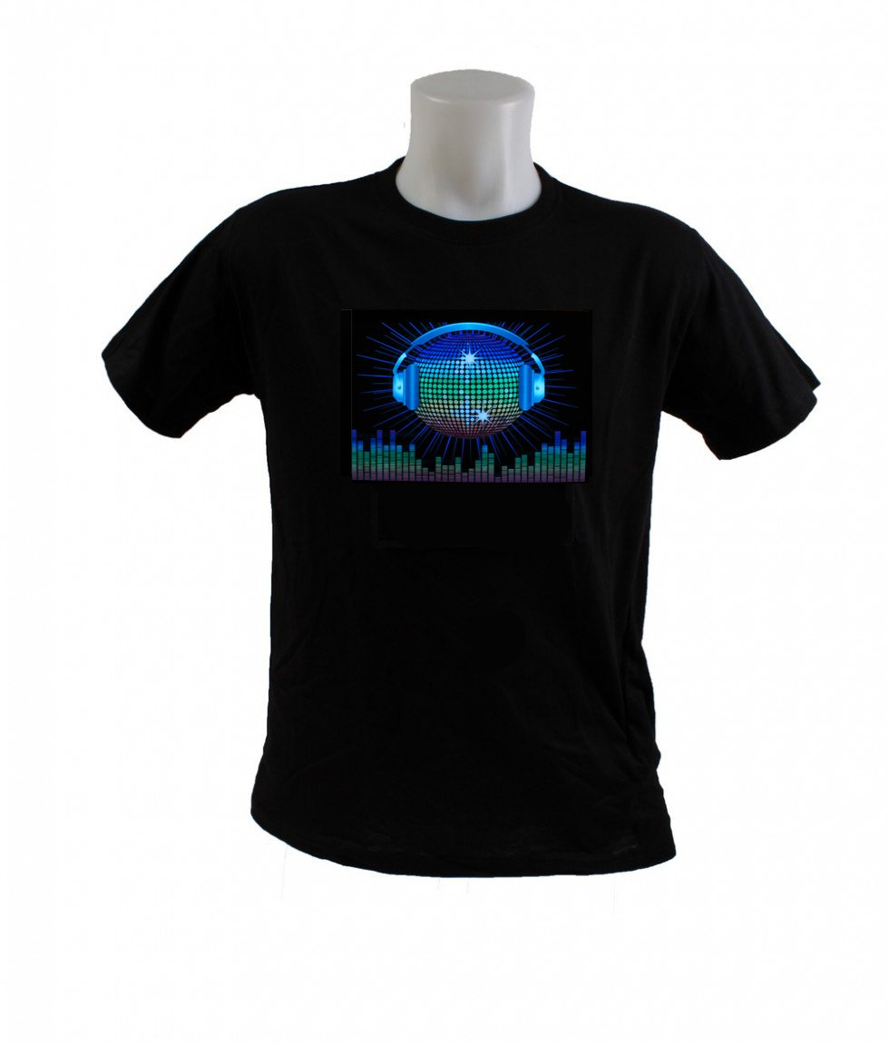 Farbparty T Shirt Disco Ball Equalizer Cool Mania