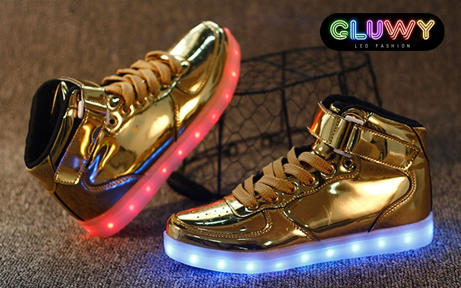 Led Zapatillas Oro Luminoso De Deporte zGUSpMVq