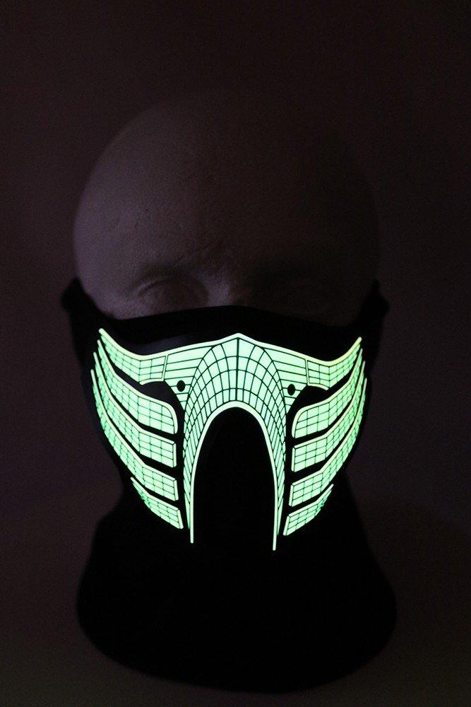LED rave mask for party sound sensitive - Scorpion